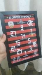 Quadro Escalação Flamengo Campeão Libertadores 2019