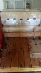 Baleiro e caixa em vidro temperado