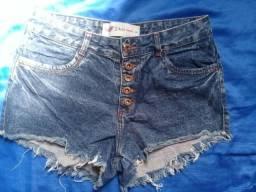 Bermuda jeans cintura alta
