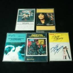 5 Fitas Cassete Com Trilhas Sonoras De Clássicos Do Cinema