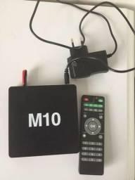 Tv Box Android 4.4 Tv Modelo M10 4k Gamer Netflix Quad Wifi
