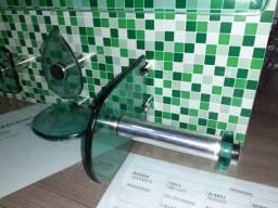 KIT de Banheiro em vidro temperado/com inox