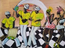 Belo Quadro, Pintura decorativa em acrílica sobre tela 30x40 Artista Tukka Ycrio