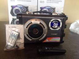 Promoção Caixa de Som Ecopower ep-2220 Preta Bluetooth com Microfone, Nova, Entregamos