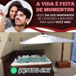 Título do anúncio: Banheira spa ofurô Deck hidromassagem área de lazer