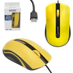 Mouse 1000 Dpi Amarelo MS-50 0 exbom
