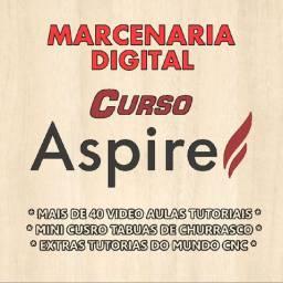 Curso Vídeo Aulas Tutoriais Aspire Pró + Pacote de Brindes Mundo CNC<br>