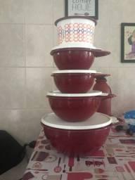 Kit bacias tupperware