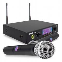 Kit microfones sem fio profissional