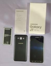 Smartphone Samsung J7 Metal Único Dono Placa com Defeito