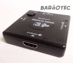 Adaptador Switch Hd - Hdmi Splitter - 3 Portas
