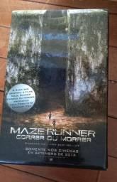 """Box de livros Maze Runner com livro extra """"arquivos"""""""
