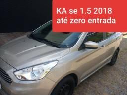 KA 2018 1.5 SEDAN NO ZERO ENTRADA