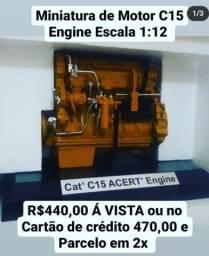 Título do anúncio: Miniatura  Motor Cat 1:12