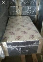 *cama box solteiro de 07 cm de espuma