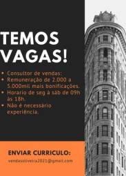VAGA PARA CONSULTOR DE VENDAS