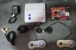 Lote Super Nintendo com Jogos