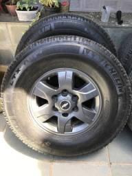 Roda S10 - Jogo Rodas S10 aro 16 Original c/ Pneus 265/75r16