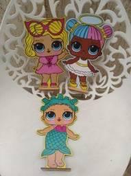 kit para decoração de festa de bonecas da Lol Surprise