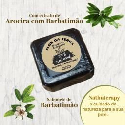 sabonete intimo de barbatimão e aroeira glicerinado 120g artesanal