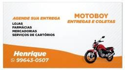 HENRIQUE MOTOBOY ENTREGADOR PARTICULAR zap