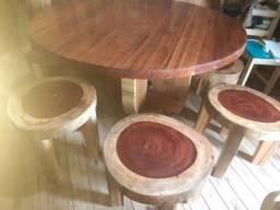 Título do anúncio: Mesa redonda rustica