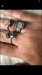 4 anéis prata 925