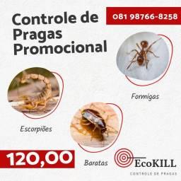 Detetização promocional 120 Reais (Baratas, formigas e escorpião)
