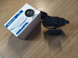 Webcam 1080p Full HD visão 360° câmera com microfone usb plug para computador