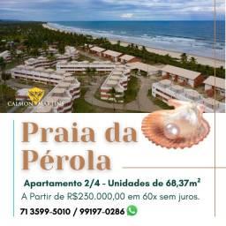 Praia da Pérola Ilhéus, apartamento 2/4 68m² - Oportunidade