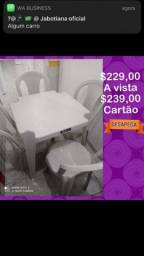 Título do anúncio: Conjunto de mesa plástica em estoque