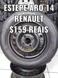 Roda aro 14 para estepe Renault Clio Sandero logan Megane Kangoo. Disk entrega