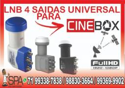 Lnb 4 Saidas Universal Banda Ku 4k Hd Lnbf Para Cinebox
