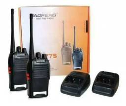 Kit 2 Radios Comunicadores Baofeng Walk Talk Baofeng 777s