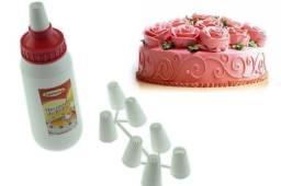 Título do anúncio: Decorador de bolos, doces e cupcake com 8 bicos diversos.