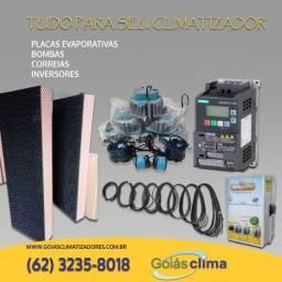 peças para climatizador correia, bombas, inversor, placa evaporativa