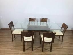 Título do anúncio: Mesa com Tampo de Vidro e 6 Cadeiras