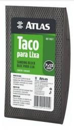 Taco lixador borracha Atlas 7x13cm