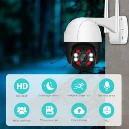 Câmera de segurança cctv 1080p ptz wifi câmera ip ao ar livre 4x zoom