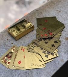 BARALHO DOURADO Ouro Back side 100 dólares<br>