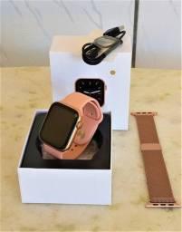 Smartwatch W26 ROSA + pulseira extra milanese *promoção*