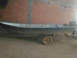 Motor 15hp + barco 5mts + carrerinha. - 2007