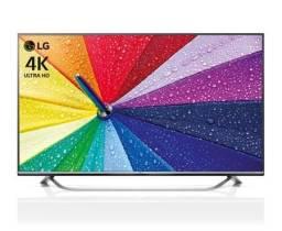 TV LG 49 Smart 4K modelo UF 7700 com 2 smart controle remoto