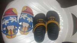 Sandália infantil 50 reais as duas