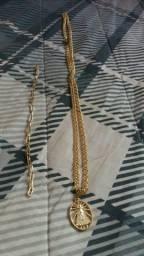 Conjunto de corrente banhada a ouro BARATO