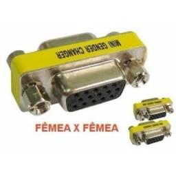 Adaptador Emenda Db15/ Vga Femea / Femea