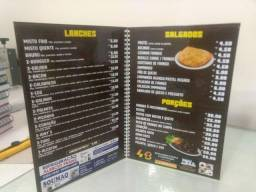 Kit Pack Cardápios Para Restaurantes, Bares, Lanchonetes, Pub's, Pizzarias e Cafeterias