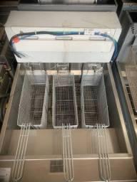 Fritadeira elétrica 44L industrial (Alef)