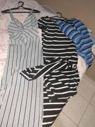 Vestido macaquinho e body tamanho M 38 tudo por 50 reais