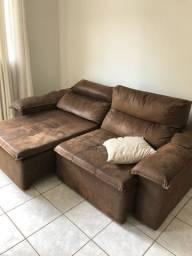 Sofá retratil  de 3 lugares reclinável